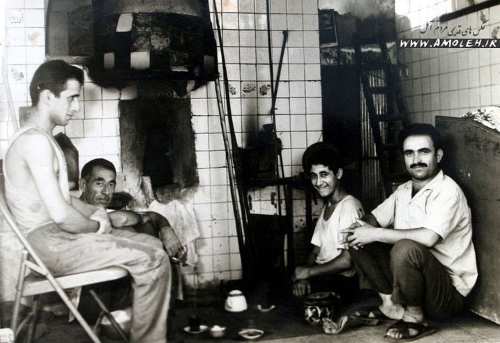 nanvari نانوایی سنگکی دهه چهل   خیابان امام رضا (ع) آمل