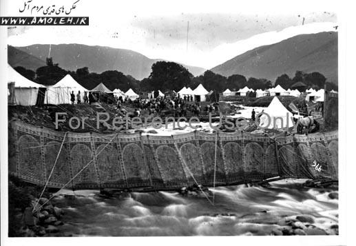 اردوی ناصرالدین شاه برای شکار در دره لار