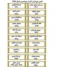 اسامي شهرداران آمل از بدو تاسيس تا سال 1357