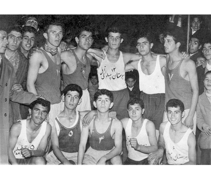 تیم بسکتبال آموزشگاههای آمل سال ۳۶-۳۵