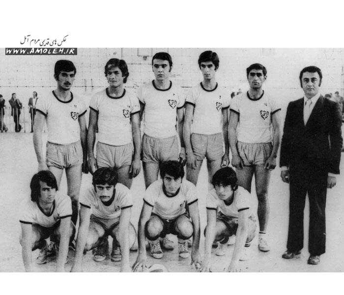 29 تيم واليبال آمل قهرمان استان مازندران سال 52
