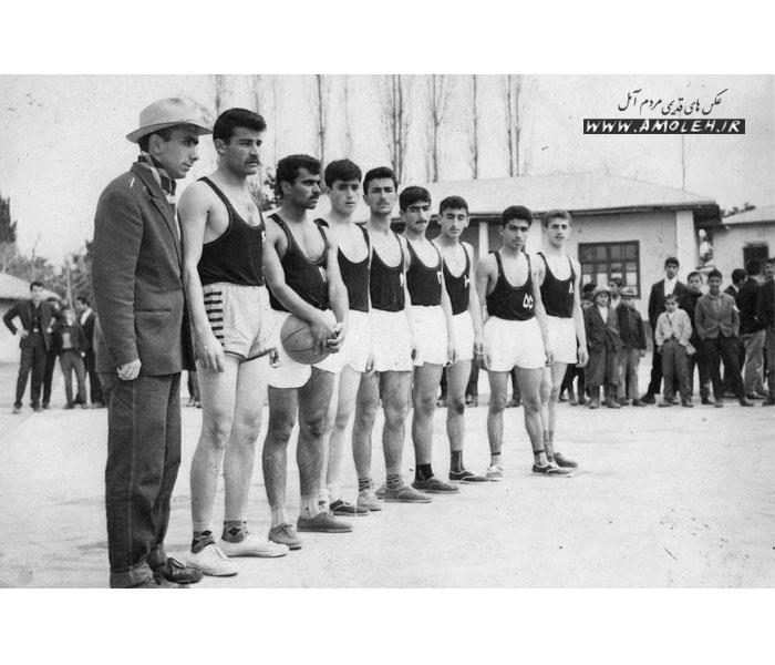 تیم بسکتبال آمل حدود سال ۴۰