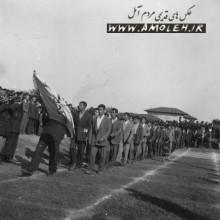 رژه دانش آموزان دبيرستان پهلوي سابق دهه 30