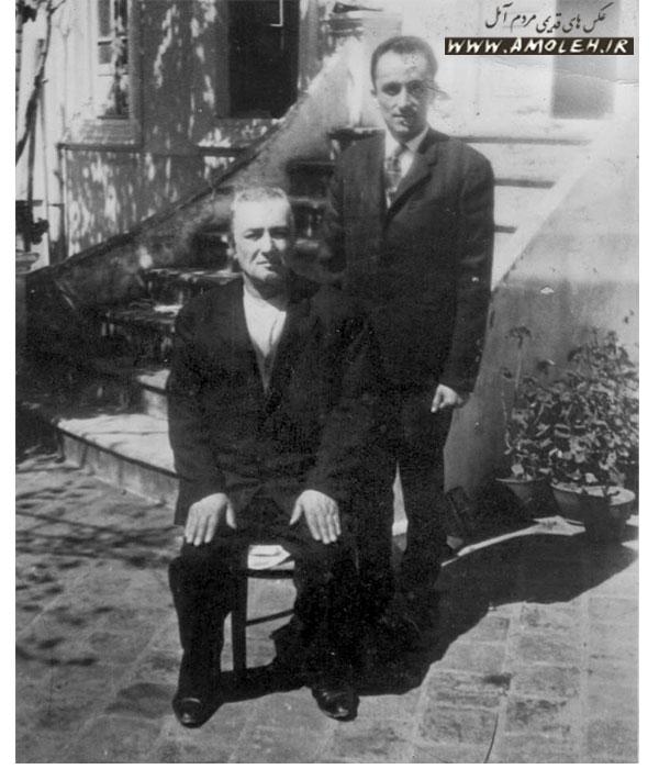 عکس یادگاری پدرو پسر اواخر دهه ۳۰