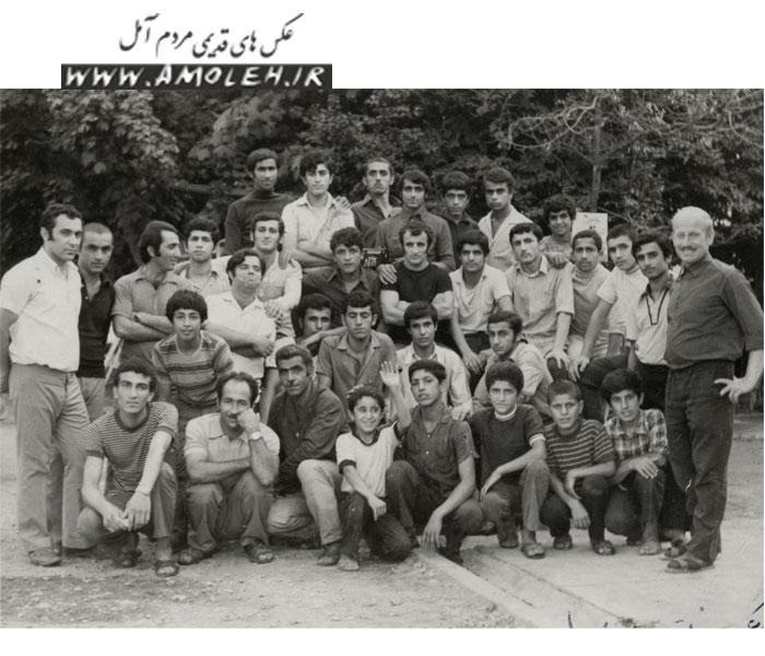 جوانان آمل و محمود آباد شاغل در کمپ شرکت نفت سال ۴۷