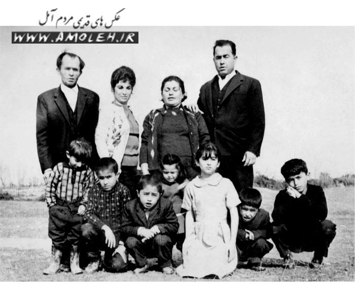 سیزده بدر دهه ۴۰ خانواده های دوبرادر پنبه باغ در محله اسپه کلای آمل