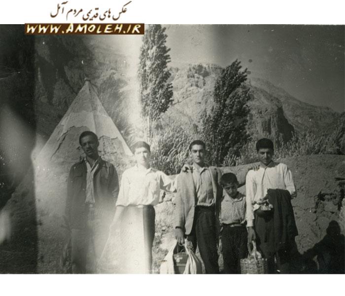 عکس یادگاری جوانان طایفه اسک در امام زاده علی پشنک