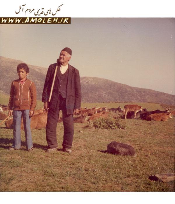 حاج محمد هادی ابراهیمی در سن ۱۰۰ الگی در ییلاق خوش واش سال ۶۰