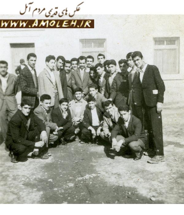 دانش آموزان سال چهارم ریاضی دبیرستان محمد طبری شهرستان آمل سال ۱۳۳۹