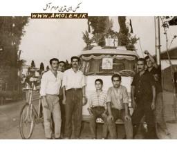 عکس يادگاري از اردوي دوچرخه سواران حدود دهه 50