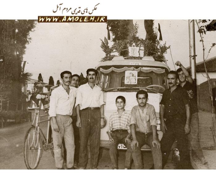 عکس یادگاری از اردوی دوچرخه سواران حدود دهه ۵۰