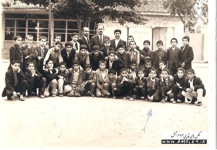 دانش آموزان کلاس پنجم دبستان فرهنگ آمل – سال ۱۳۴۹