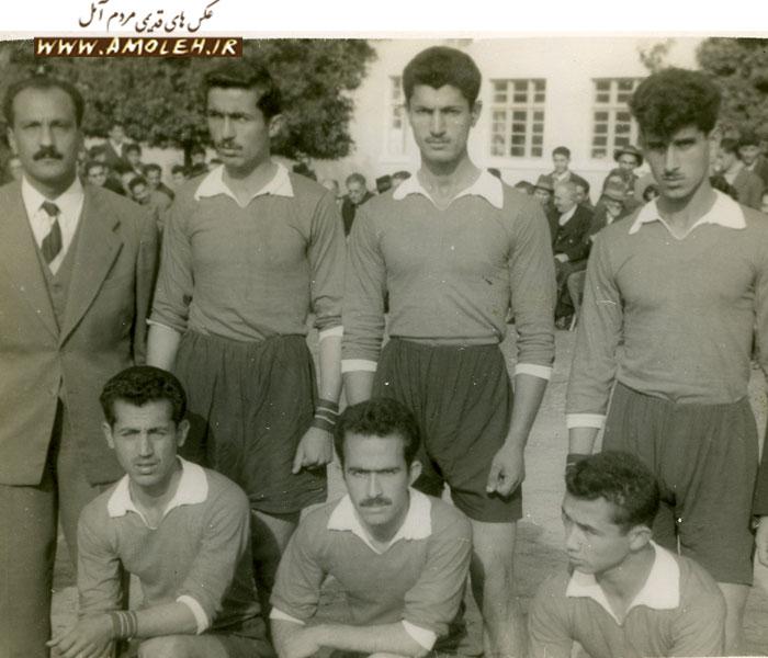تیم والیبال دبیرستان طبری قهرمان آموزشگاههای آمل سال ۱۳۳۷
