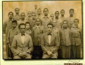 دانش آموزان سیکل اول دبیرستان پهلوی آمل - سال 1318 خورشیدی